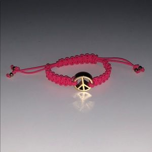 Juicy Couture Peace Sign Hot Pink Bracelet